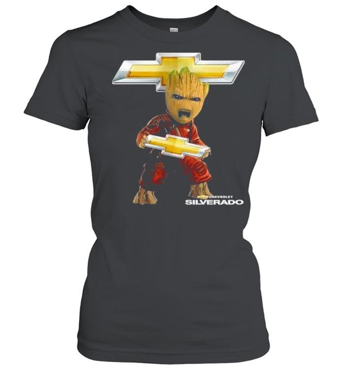 Baby groot hug chevrolet silverado shirt Classic Women's T-shirt