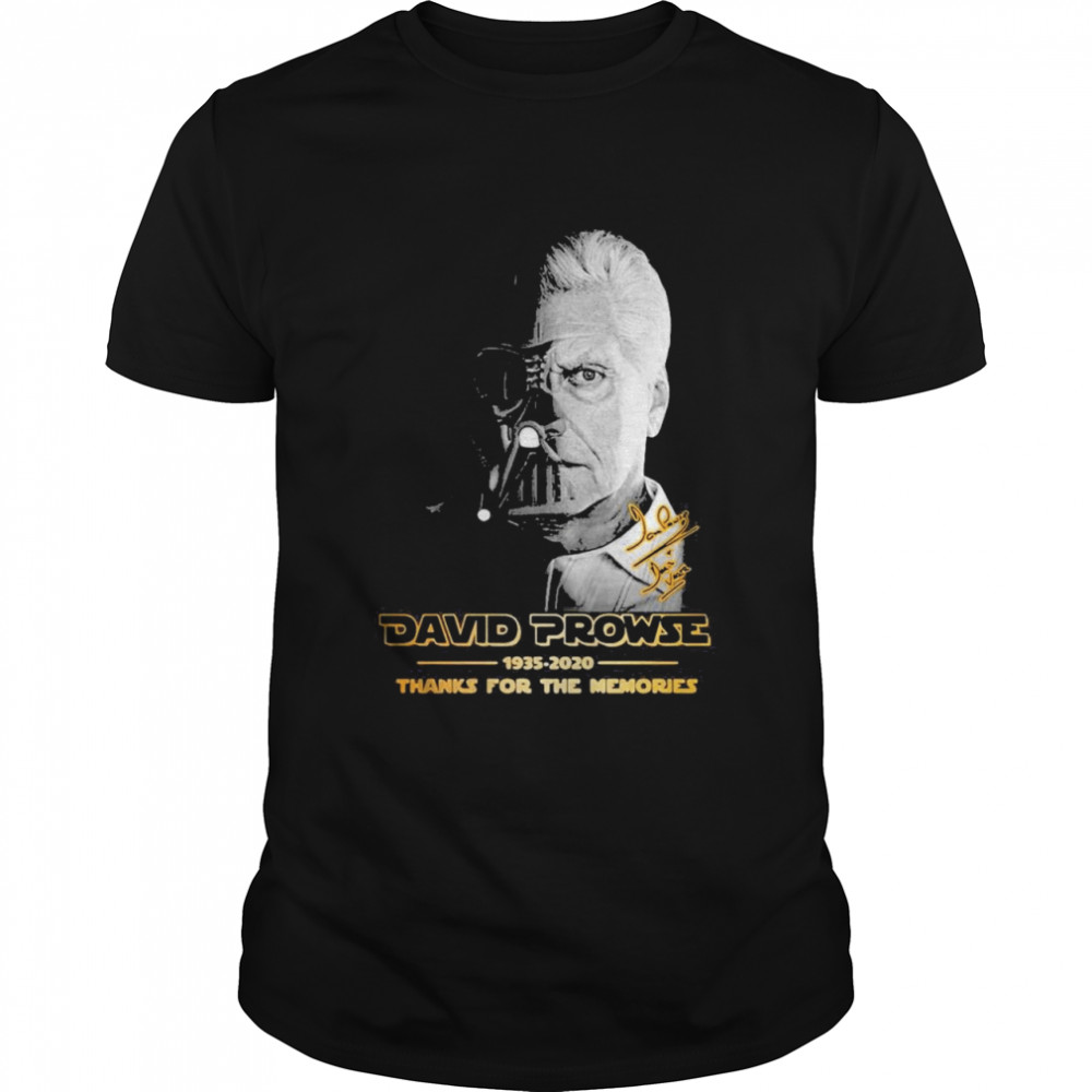 David Prowse 1935-2021 Thanks For The Memories Signature  Classic Men's T-shirt