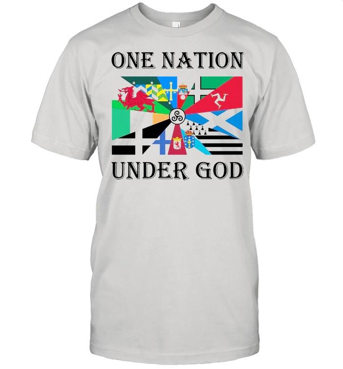 Klub Liga Inggris Flag One Nation Under God  Classic Men's T-shirt