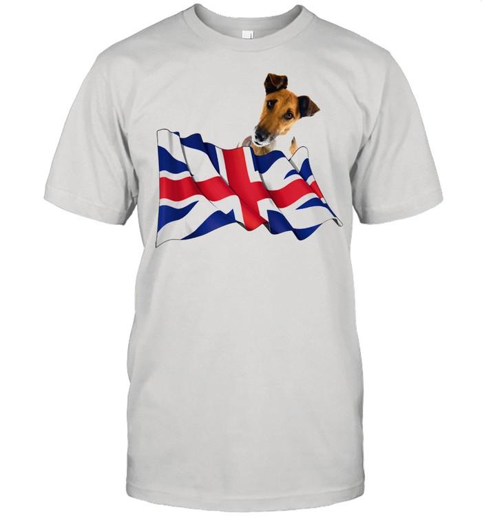 Union Jack Flag Dog Fox Terrier Smooth  Classic Men's T-shirt